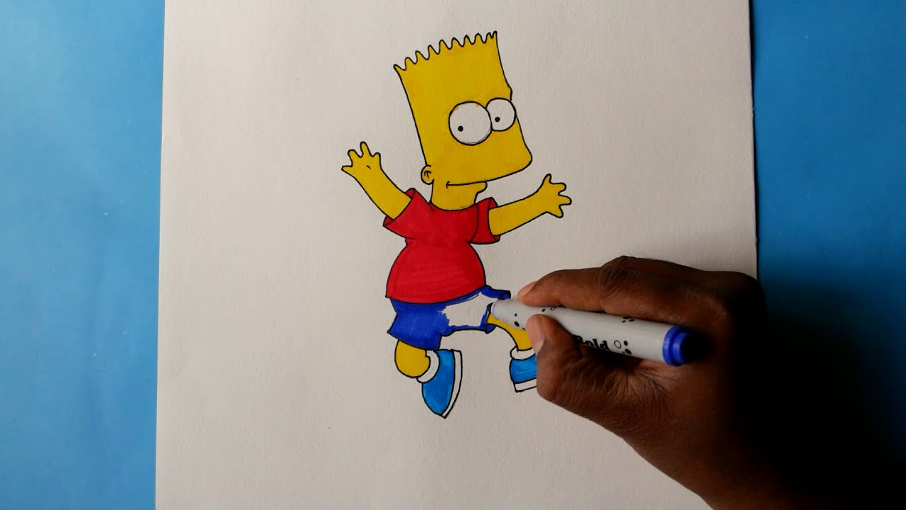 Drawing Bart Simpson Cartoon Character from The Simpsons ...