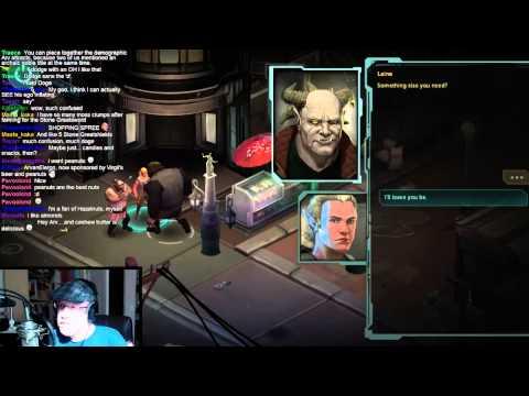 Arv continues his cyber-magi-elf punk run as he streams Shadowrun Returns: Dragonfall (court - 1 / 3
