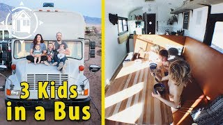 Family Downsizes to a School Bus to Live on the Road