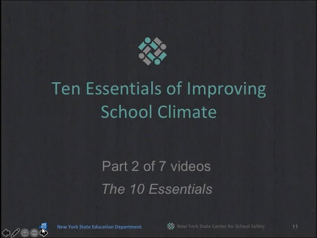"""The 10 Essentials for Improving School Climate""  Part 2 of 7"