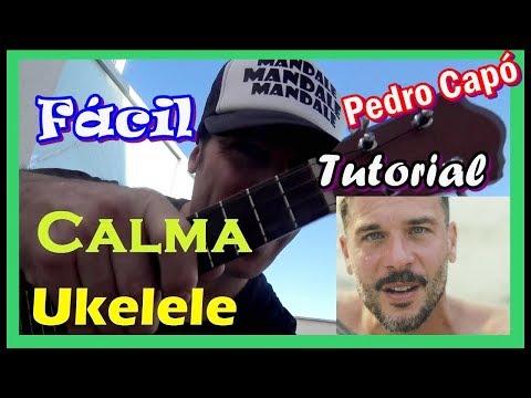 Cómo tocar CALMA PEDRO CAPÓ 🔴UKELELE🔴 tutorial 👌fácil Cover Acordes