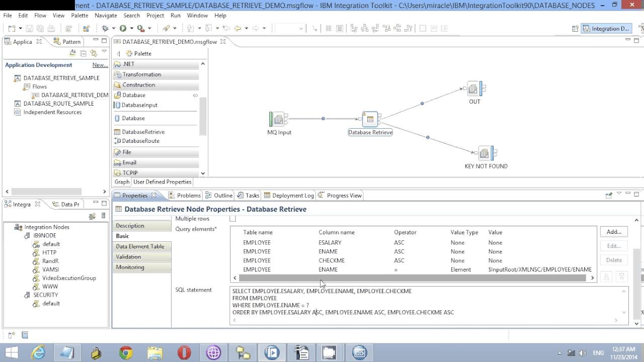 Database Retrieve Node tutorial in IBM Integration Bus v 9 0  (www integrationseries com)