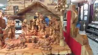 That Manger (jesus' Nativity) Scene - Made Of Olive Wood