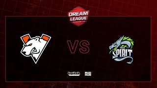 Virtus.pro vs Team Spirit, DreamLeague S13 QL, bo3, game 1 [Maelstorm & Jam]