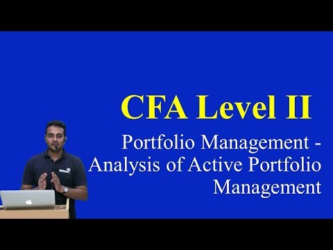 2017: CFA Level 2: Portfolio Management - Analysis of Active