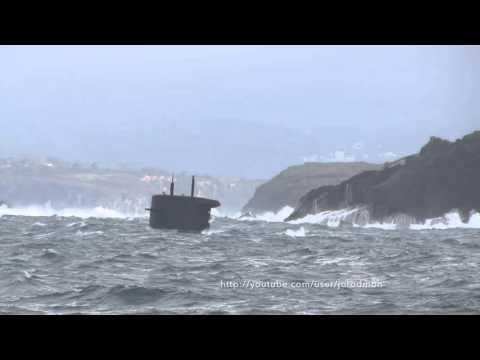 HNLMS BRUINVIS S810 Departs A Coruña