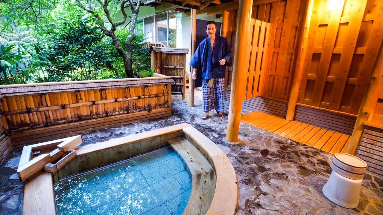 Japanese ryokan tour amazing private onsen in hakone - Ryokan tokyo with private bathroom ...