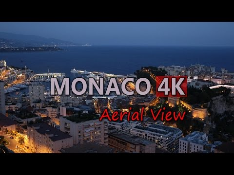 Ultra HD 4K Monaco Travel Aerial View Tourism Sightseeing Tourist Attraction UHD Video Stock Footage