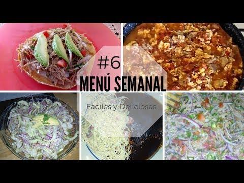 Menú Semanal #6 | Recetas Fáciles Y Deliciosas | Erika Blop