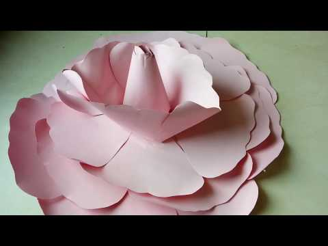 DIY Giant Paper Flower Easy & Beautiful (Tutorial) - How To Make Large Size Flower (Giant Flower)