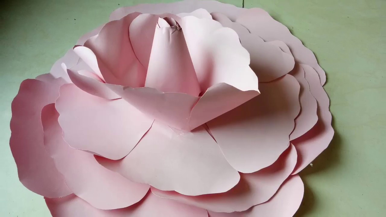 Diy Giant Paper Flower Easy Beautiful Tutorial How To Make Large Size Flower Giant Flower