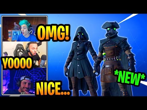 STREAMERS REACT TO *NEW* PLAGUE DOCTOR SKINS (EPIC)!!! Fortnite FUNNY & EPIC Moments