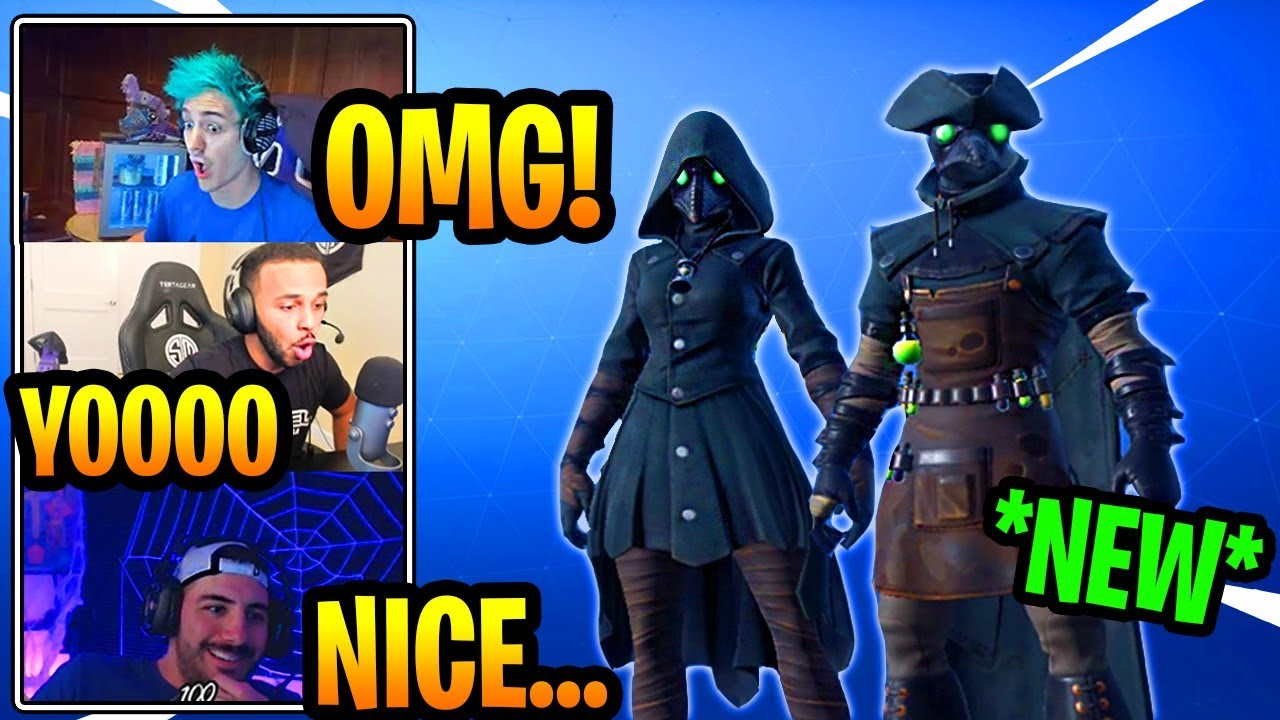 Streamers react to new plague doctor skins epic fortnite funny epic moments - Fortnite plague skin ...
