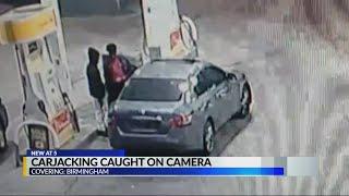 Teen carjacked at gunpoint at Birmingham gas station