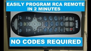 RCA Universal Remote Programming For TV
