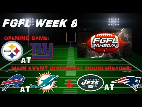 FGFL 18.5 WEEK 8 (The Madden Franchise Where Subs Mean Everything)