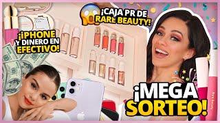 TODO DE RARE BEAUTY BY SELENA GOMEZ EN CAJA DE PR, iPHONE Y PREMIOS EN EFECTIVO! | MEGA SORTEO!!!