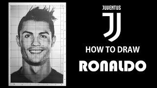 HOW TO DRAW RONALDO STEP BY STEP in 20MIN - Cristiano Ronaldo at Juventus