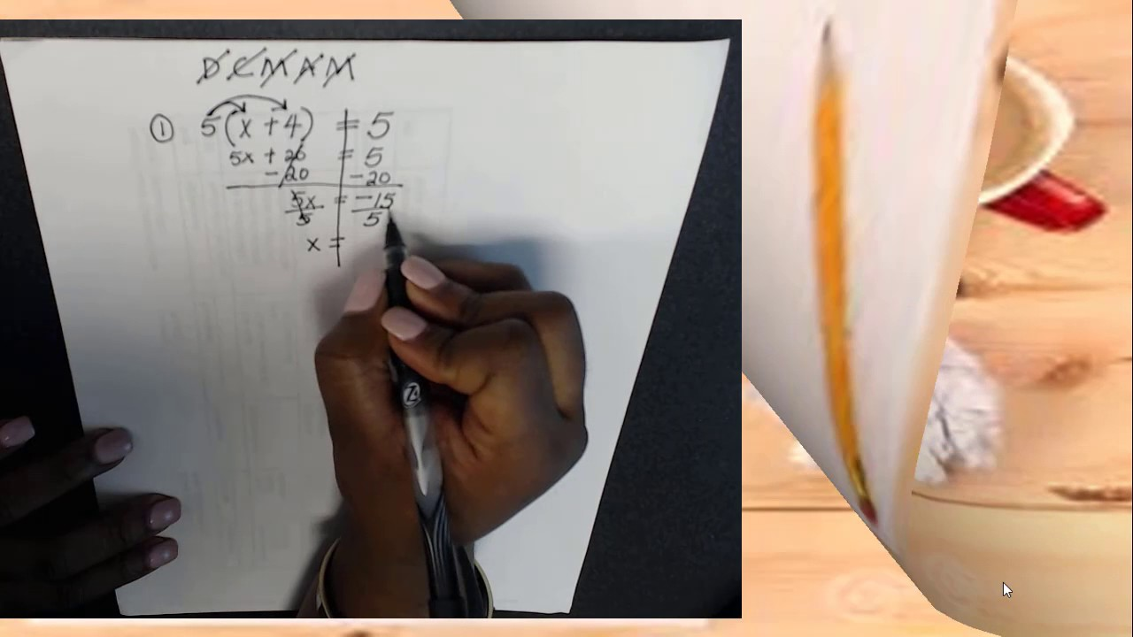 Solving Multi-step Equations - YouTube
