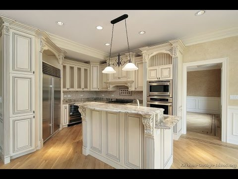 Antique White Kitchen Cabinets - YouTube
