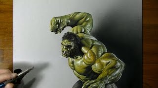 Drawing: Hulk vs Marcello Barenghi - How to draw 3D Art