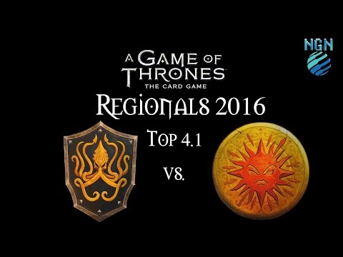 Game of Thrones LCG Maritime Regionals 2016 | Top 4.1 Martell Lion vs Greyjoy Fealty