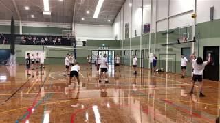 Caulfield Grammar School WH 4ths Volleyball vs Carey Grammar School 16/2/19 SET #1