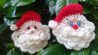 Como hacer la cara de Papa Noel a crochet/Tejemos!?