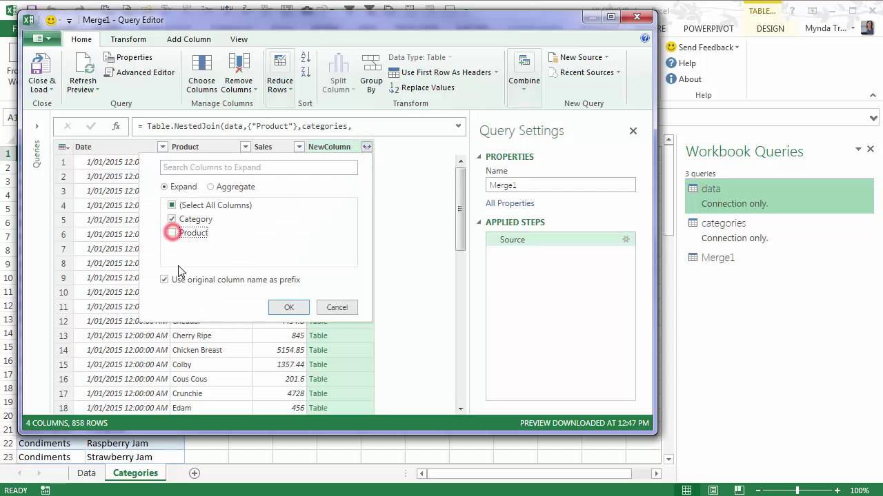 Excel Power Query VLOOKUP • My Online Training Hub