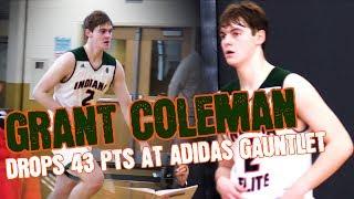 """6'7"""" Wing Grant Coleman 2020 Drops 43 Pts At Adidas Gauntlet Indy Regionals"""