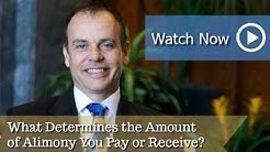 What Determines the Amount of Alimony You Pay or Receive? | Duluth Divorce Attorney David Ward |