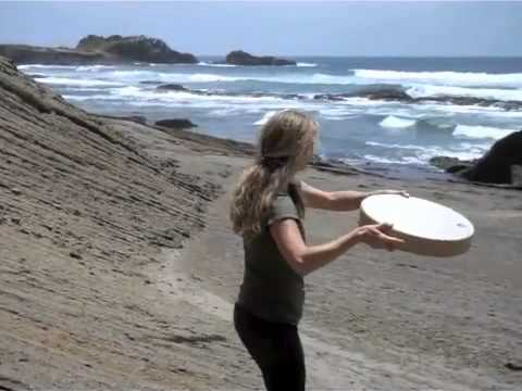 Christine Stevens plays a duet with Nature using ocean drum