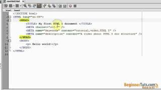 Beginner HTML tutorial # 2 - HTML 5 document structure intro