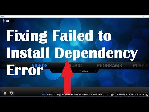 Fixing Fail to install dependency error in Kodi