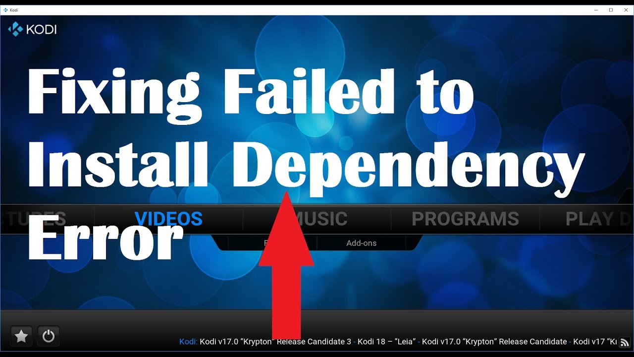 Fixing Fail to install dependency error in Kodi