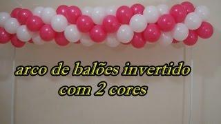 arco de balões invertido com 2 cores - arc inverted balloon with 2 colors
