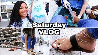 Destiny Daily: First Spa Pedicure, Shopping, Mini Beauty Supply Haul | VLOG