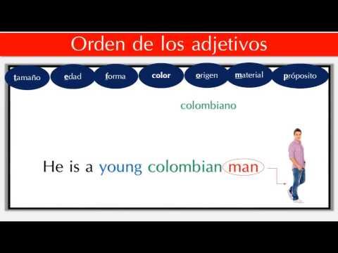 El orden de los adjetivos en inglés