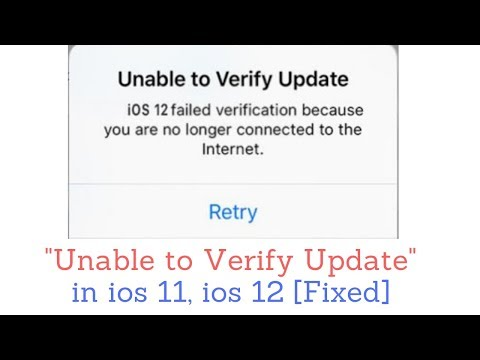 How to Fix Unable to Verify Update iOS 12, iOS 12 1 on