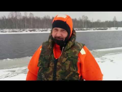Тренировка спасение из воды в ПСО Лодейное Поле 13.02.2017г