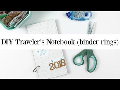 DIY Traveler's Notebook (Binder Rings) - YouTube