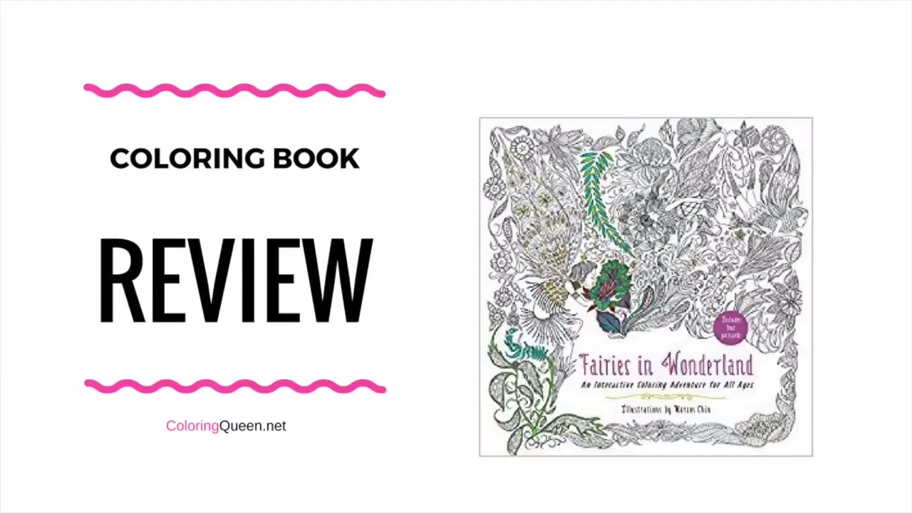Fairies in Wonderland Coloring Book Review - Marcos Chin ...