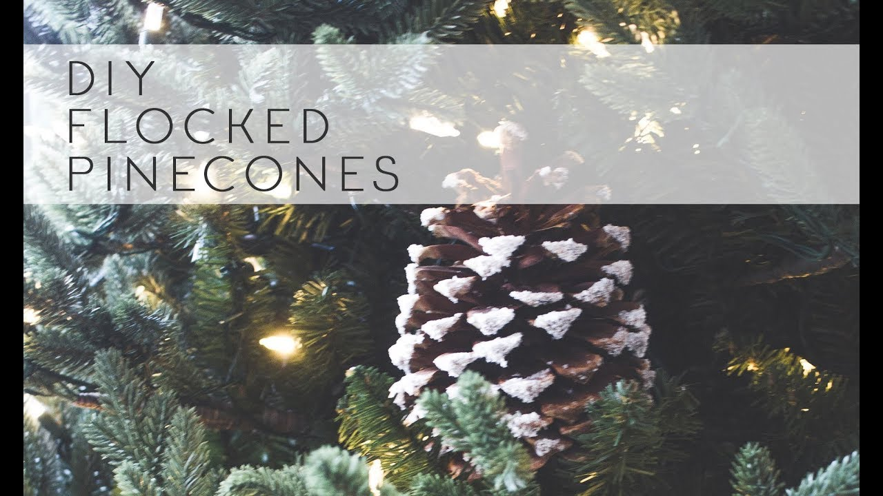 diy flocked pinecones creativechristmas