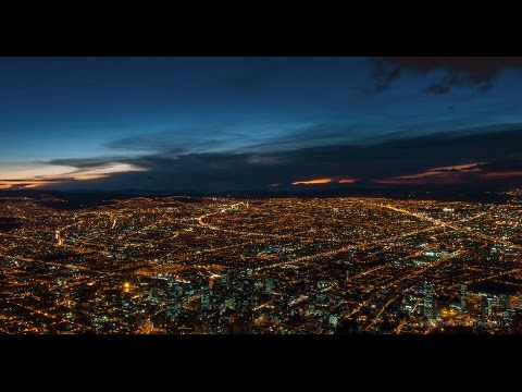 4K Time lapse of sunset over Bogota, Colombia