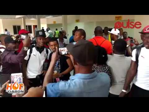 AFCON 2017: Ghana Fans Storm Oyem Airport to See off Black Stars  pulse TV Ghana