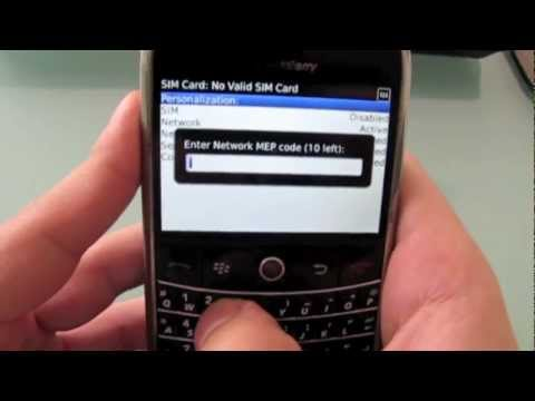 How to Unlock Blackberry Bold 9000