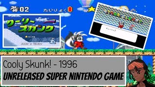 The History Of A Unreleased Japanese SNES Game - Cooly Skunk (1996) + With Gameplay. #SNES #Rare