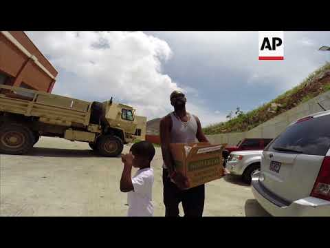 US Virgin Islanders struggling with food and water rations