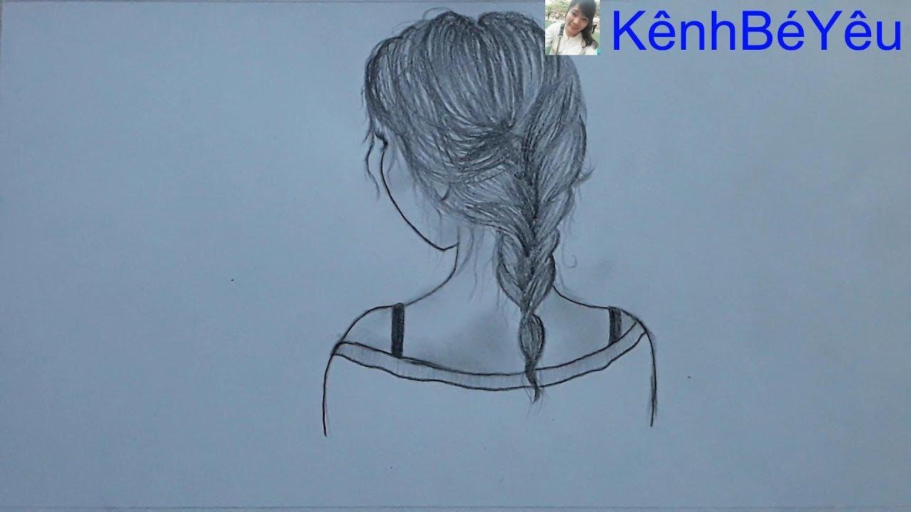 Vẽ gái xinh – Vẽ cô gái bằng bút chì đơn giản;Draw beautiful girls – Draw girls with simple pencils.