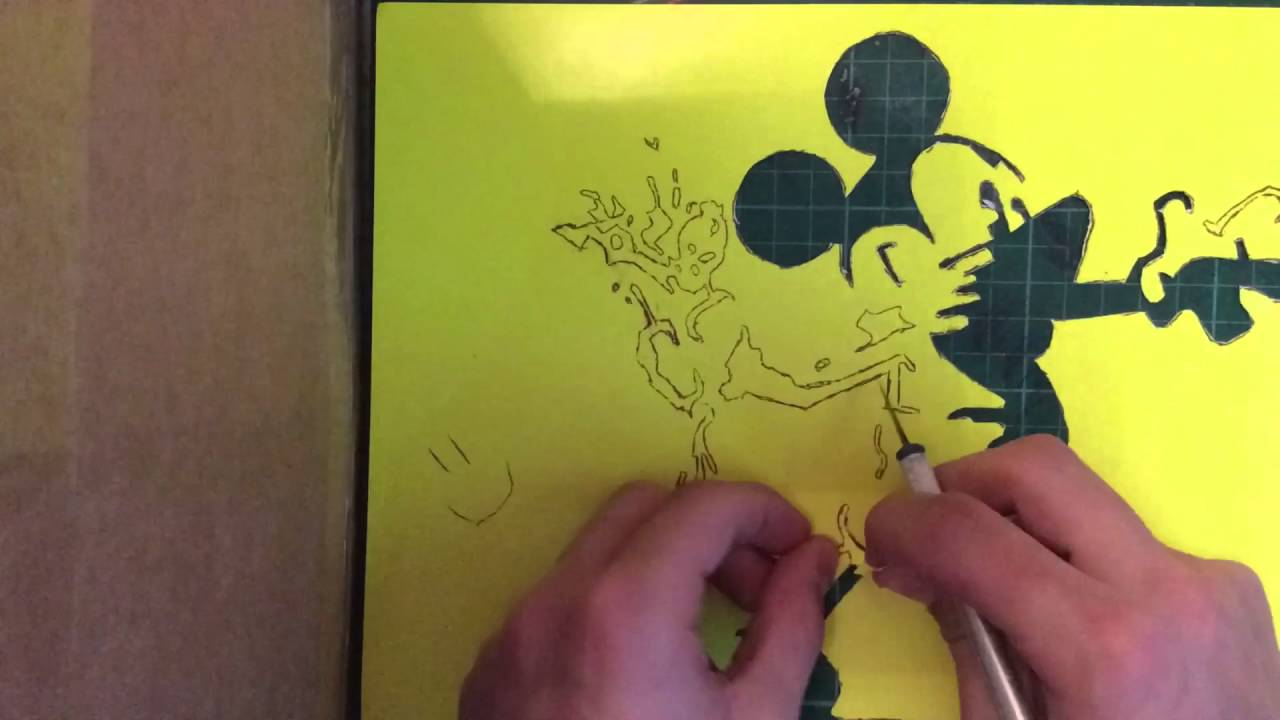 Mickey Mouse Canvas Stencil Art